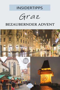 Graz im Advent - Vorweihnachtliche Innenstadt Advent, Reisen In Europa, Travel Companies, Travel Inspiration, Taj Mahal, Travel Destinations, Cool Designs, Country, City