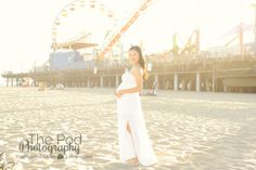 maternity photographer santa monica pier
