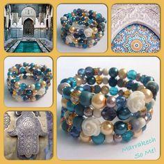 Marrakech! Moderne, mooie zelfgemaakte armbanden, glas parels, glas kralen , Memory wire, http://some-accessoires.nl