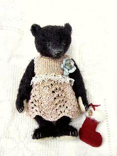 Marguerite Schwarzkopf, One Of a Kind Mohair Girl Bear from Aerlinn Bears