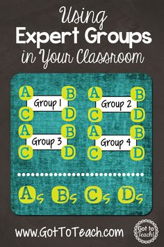 Expert Groups: A cooperative learning strategy that will actively engage your students!