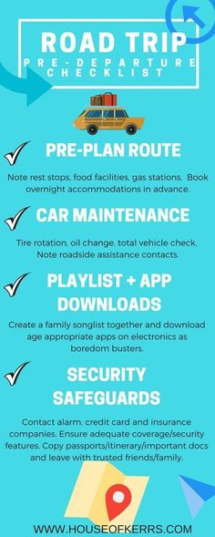 Family Road Trips: Pre-Departure Checklist | House of Kerrs