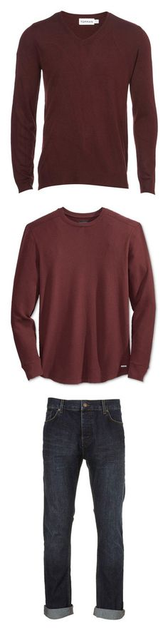 """Nolan- SH"" by inestrindade on Polyvore featuring men's fashion, men's clothing, men's sweaters, men, tops, guy clothes, mens clothes, mens jumpers, mens sweaters and mens burgundy sweater"