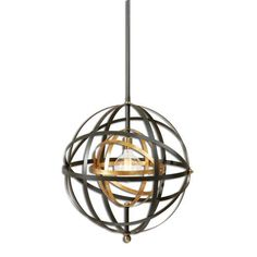 $371 60.5 Inches High 22.5 Inches Wide 22.5 Inches Deep Rondure Dark Oil Rubbed Bronze One-Light Pendant