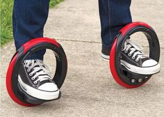 The revolutionary Sidewinding Circular Skates, a modern skateboard that has no board, just two wheels. Take a look at the video.Sidewinding Circular Skates by Hammacher Schlemmer, features wheels that are in diameter, allowing them to Futuristic Technology, Cool Technology, Latest Technology, Technology Gadgets, Energy Technology, Hammacher Schlemmer, New Gadgets, Cool Gadgets, E Mobility