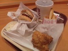 -KENTUCKY FRIED CHICKEN- Original Chicken 2 Piece Set $ 6.90 Japanese-style chicken cutlet burger $ 3.80 http://alike.jp/restaurant/target_top/648573/