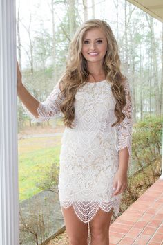 great dress option to wear to a wedding shower or graduation. looks like a dress from the bachelor or bachelorette! blogger style!