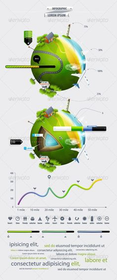 Elements of Infographics with the Ball Planet Eart 13$