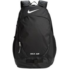 Nike Max Air Team Training Large Backpack ($65) ❤ liked on Polyvore featuring men's fashion, men's bags, men's backpacks, black and mens sling backpack