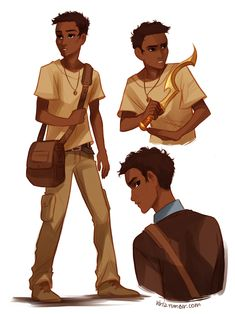 Carter Kane from Rick Riordan's The Kane Chronicles. People always draw him looking weird, but THIS is totally how I picture him