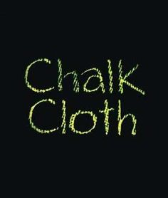 Black Chalkcloth Fabric: This is so cool! It's fabric that works like a chalkboard!