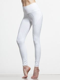 These white-on-white leggings can be described in one word: stunning. The quilted design isn't just for looks, though — the cross stitching and strategically placed compression seaming is designed to give you the best workout ever, while details like the moisture wicking fabric and high-waistband keep you comfortable as you go beyond your comfort zone.