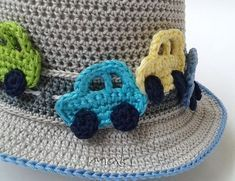 FREE CROCHET PATTERN: Crochet car applique If you want to embellish any boy outfit this crochet car applique is perfect! They are so cute and easy to make you will love them! At the end of this post you can see the hat that I put those cars on! It is so popular and whenever I make that hat I receive a lot's of compliments! It is a true joy! So…. let's begin!