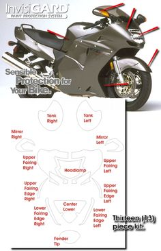 Honda Blackbird InvisiGARD Invisible Clear Paint and Headlight protection kits. Blackbird, Cbr, Cars And Motorcycles, Honda, Motorcycle Paint, Woodworking, Mopeds, Bike