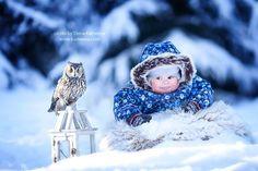 Niños, animales y frío, fotos adorables a rabiar