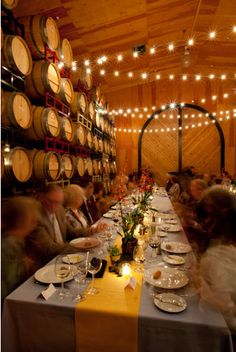 Love The Idea Of Some Whimsical Light Strings In Wine Cellar