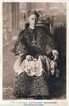 Image of Bl. Alfredo Ildefonso Schuster feast day 30th August pray for us.