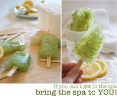 *Lemonade Cucumber Spa Popsicles