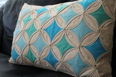 Cathedral Windows Cushion...pattern idea...
