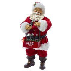 Coca-Cola Santa Christmas Table Decor by Kurt Adler, Multicolor Coca Cola Santa, Coca Cola Christmas, Merry Christmas, Coke Santa, Father Christmas, Christmas Stuff, Vintage Christmas, Christmas Classics, Christmas Scenes