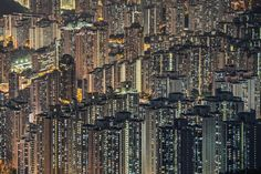 """""""Digital panel of Hong Kong"""" Photo and caption by Julia Wimmerlin This amazing stacked architecture of Hong Kong shows the housing of its rather dense population. It's visually striking to understand that your whole horizon is built from people's lit windows. It shocks you that each life so big and important to the person himself and his close circle looks just like a tiny star in a huge sky next to millions of the same stars."""
