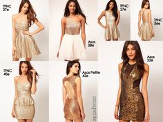 Silvester Outfits 2 - Gold/Glitter