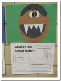 A fun activity with the book What if You Animal Teeth?  What a fun idea!  www.mydentaltourism.com