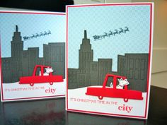 Westie Christmas Cards Set of 2 Christmas in the by apaperaffaire