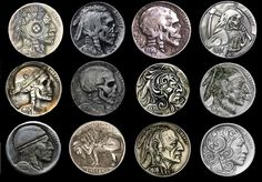 A Collection of Hobo Nickels