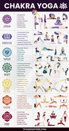 Chakra Yoga: Best Yoga Poses For 7 Chakras – 7 Chakra Store Yoga Meditation, Yoga Mantras, Root Chakra Meditation, Sacral Chakra Healing, Chakra Root, Healing Meditation, Les Chakras, Yoga For Chakras, How To Unblock Chakras