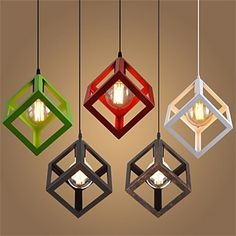 Cube-Shaped Ceiling Lamp | Lighting, Lamps and Chandeliers