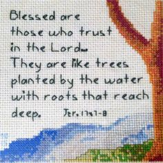 Tree Water Stitched by Missy Brobst