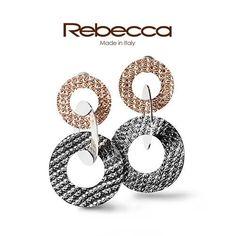 Silver, pink and black…   scopri il muticolor R-Zero e scegli il tuo gioiello su rebecca.it   #rebeccagioielli #multicolor #madeinitaly