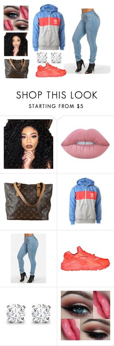 """Untitled #17"" by angelina1109 on Polyvore featuring Kylie Cosmetics, Lime Crime, Louis Vuitton, adidas, NIKE and Asprey"