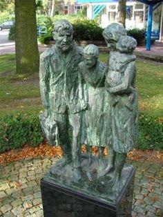 joods monument, gemeente Losser, Fam. zilversmid op weg naar concentratiekampen