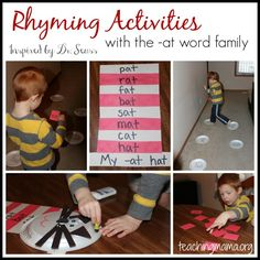 Rhyming Activities with -at Word Family