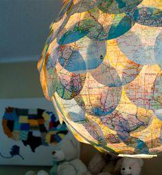 A Simple DIY Idea: The Vintage Map Paper Lantern