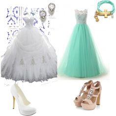 The's two beautiful  prom dresses can go with any teen  by iamdeshanti on Polyvore featuring polyvore, fashion, style and Michael Antonio
