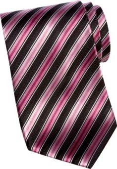 a56fb2174d36 Sean John Pink Stripe Extra Long Tie - Men's Accessories | Men's Wearhouse