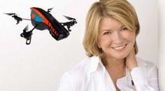 Martha Stewart & Her Personal Parrot AR Drone Drone Quadcopter, Drones, Parrot Ar Drone, Cool Tech, Martha Stewart