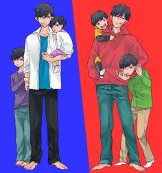 Osomatsu-san  Characters: Osomatsu; Karamatsu; Choromatsu; Ihimatsu; Juushimatsu; Todomatsu