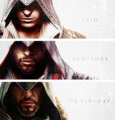 Assassin's Creed Ezio trilogy Is it wring that I think he just gets hotter the older he is?     Nah!