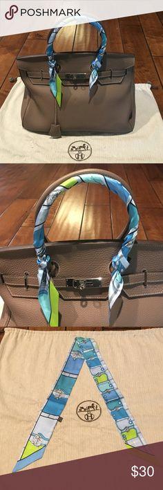 Designer bag scarf 100% silk Accessories
