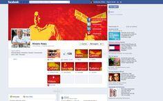 Fan Page desenvolvida para Alvaro Aoas, Personalizamos abas com foco em sua campanha.