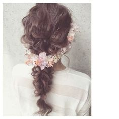 @mellowfukushima  のヘッドドレスをつけて  編みおろし♡  @lily.yuudai  #ブライダル #ウェディング #ウェディングドレス #ヘアメイク #ヘアアレンジ #東京 #オーダーメイドフォトウェディング #lily
