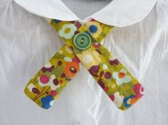 Lovely hand made tie for blouse. DIY