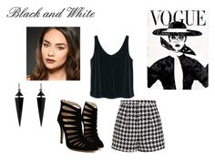 Black and White by designme101 on Polyvore featuring MANGO, Emma Cook, Oasis, Urban Decay and blackandwhite