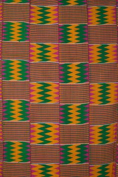 Africa | Kente Cloth, Ghana ~ Detail