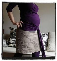 maternity mini skirt tutorial