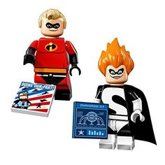 LEGO Disney Series Minifigures  Mr Incredible and Syndrome 71012 * For more information, visit image link.